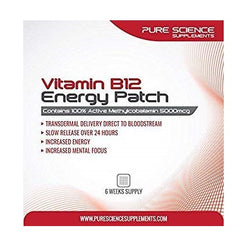 Pure Science Transdermal Vitamin B12 Patches 5000mcg
