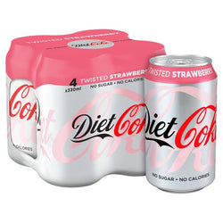 Diet Coke Twisted Strawberry 4 x 330ml