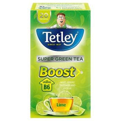 Tetley Boost Super Green Tea Lime 20 Tea Bags