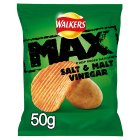 Walkers Max Salt & Malt Vinegar 50g | 4 for £1