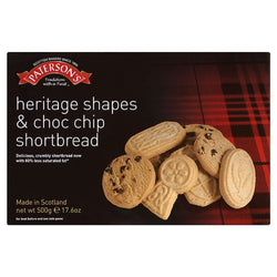 Patersons Shortbread Choc Chip 580g