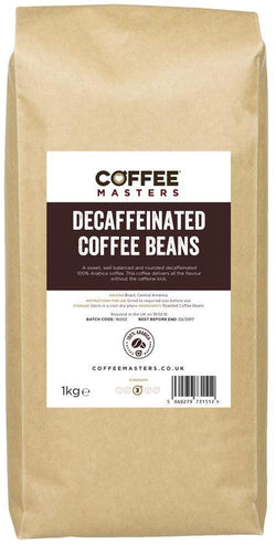 Coffee Masters Decaffeinated Coffee Beans (100% Arabica) 1Kg