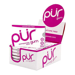 Pur Gum Aspartame Free Pomegranate (Tray of 12, 108 pieces)