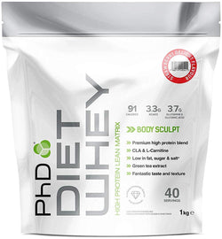 PhD Nutrition Diet Whey Protein Powder, 1 kg, Strawberry Delight