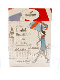 Charbrew's English Breakfast 80 Tea Bags