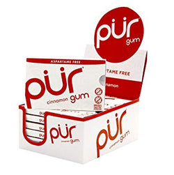 Pur Gum Aspartame Free Cinnamon (Tray of 12, 108 pieces)