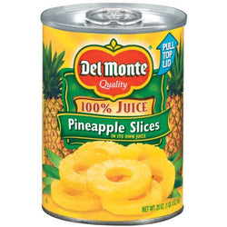 Del Monte Pineapple Slices In Juice Tin 435g