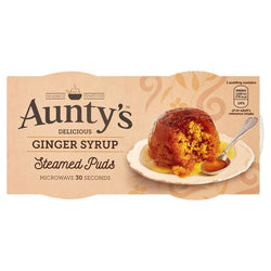 Aunty's Ginger Syrup Steamed Puds 2x95g