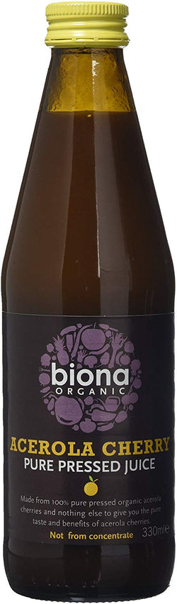 Biona Organic Acerola Cherry Pure Juice 330 ml