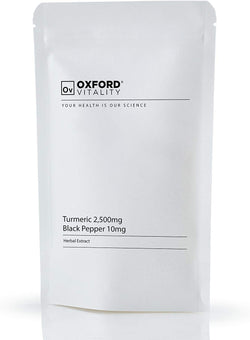 OXFORD VITALITY Turmeric and Black Pepper Tablets, 120-Count