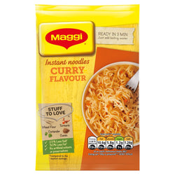 Maggi 3 Minute Noodles Curry Flavour 59g 4 for £1