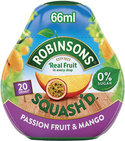 Robinsons Squash'd Passionfruit and Mango Concentrate, 66 ml