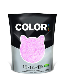 Nullodor Color Clumping Silica Cat Litter 1.8 kg Pink