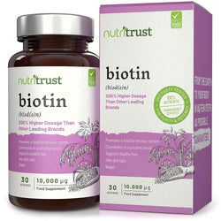 Nutritrust Biotin 10,000μg | Mix N Match Any Nutritrust 30 Servings Any 5 for £10