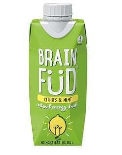 Brain Füd Natural Energy Drink Citrus & Mint 330ml