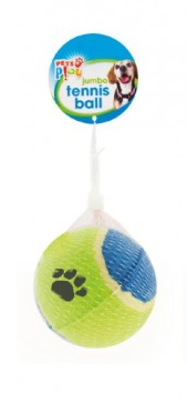Pets Play Blue & Green Jumbo Tennis Ball