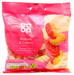 Co Op Rhubarb and Custard 180g | 3 for £1