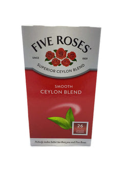 FIVE ROSES CEYLON TEA 26 TEA BAGS 62.5 G
