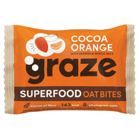 Graze Cocoa & Orange Flapjack with Quinoa & Super Cacao Nibs 30 G
