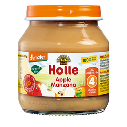 Holle Pure Organic Apple Baby Food 125g| 3 for £1