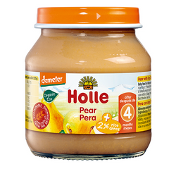 Holle Petit Pot Organic Pear 125g | 4 for £1