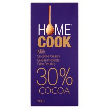Homecook Belgian Milk Choco Cake Covering30% 100G | 2 for £1
