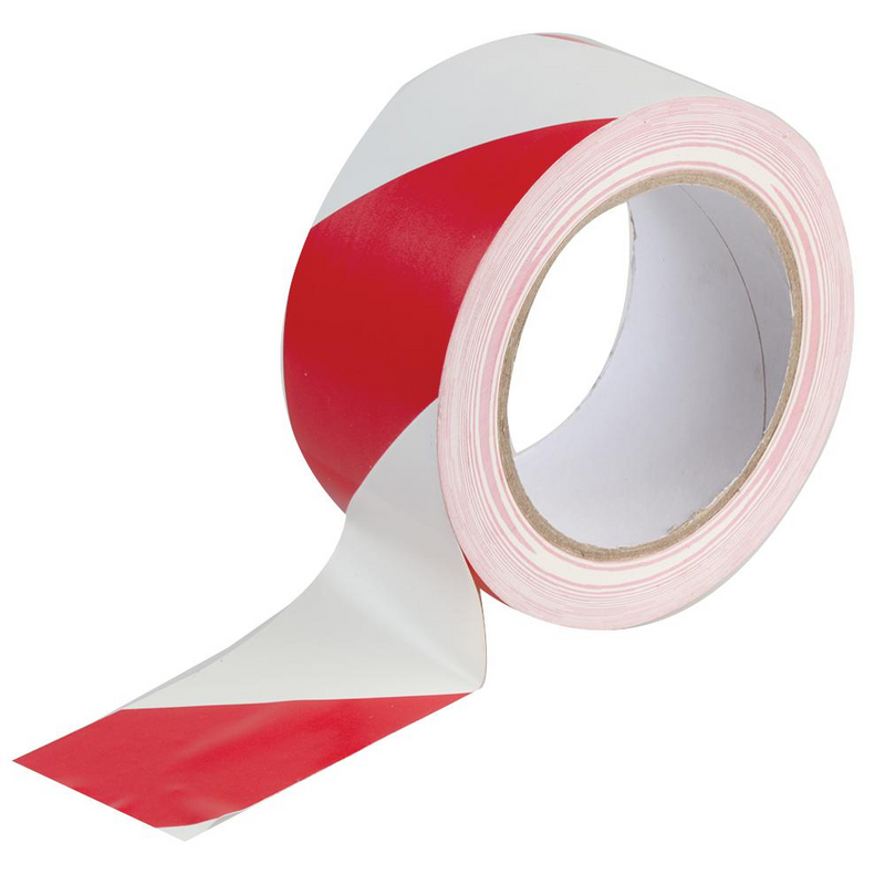 Original Gladiator Extra Strong Red & White Hazard Tape 50mm x 33m