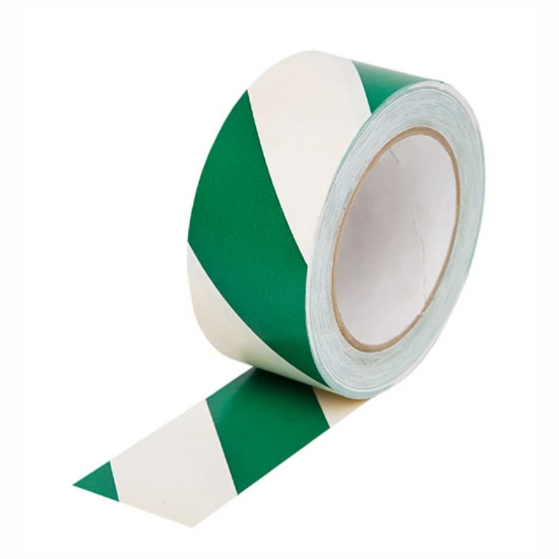 Case of 24 Original Gladiator Extra Strong Green & White Hazard Tape 50mm x 33m