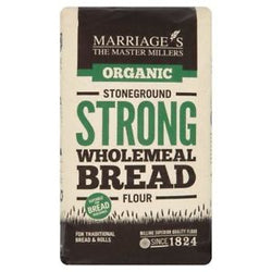 Marriages Organic Strong Stoneground Wholemeal Flour 1kg | offer 2 for £1