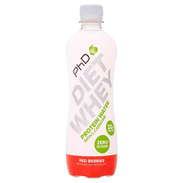 PhD Diet Whey Protein Water - Red Berries - 500ml