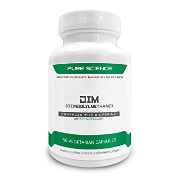 Pure Science DIM 200 mg w 5 mg BioPerine x 50 tablets