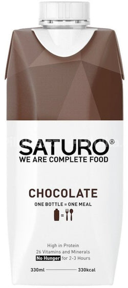 Meal Replacement Shakes SATURO, Chocolate, Ready-to-Drink Weight Control, 330 ml
