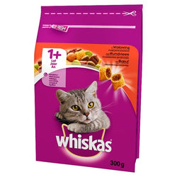 Case of 14 packs of Whiskas Beef 300g