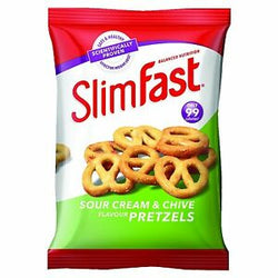 Slimfast Sour Cream Pretzel Snack Bag 23g | 2 for £1