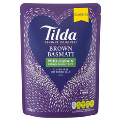 Tilda Steam Brown Rice 250G | 2 for £1