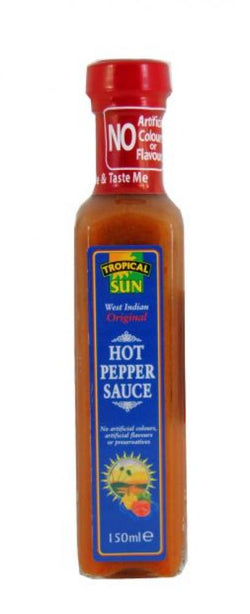Tropical Sun West Indian Original Hot Pepper Sauce 150ml x 6