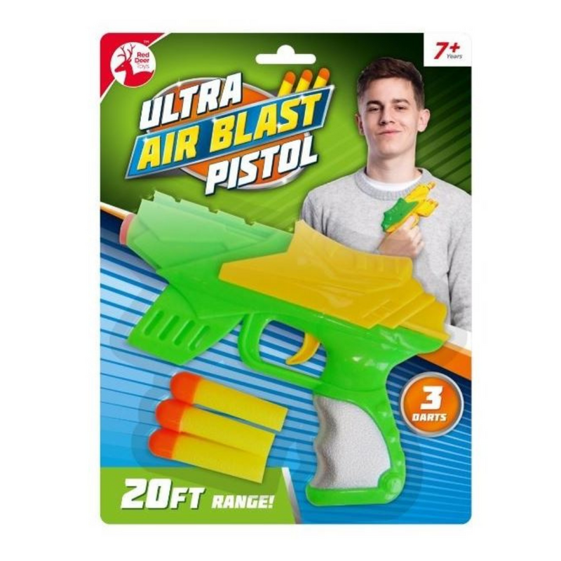 Red Deer Toys Ultra Air Blast Pistol with 3 Foam Darts