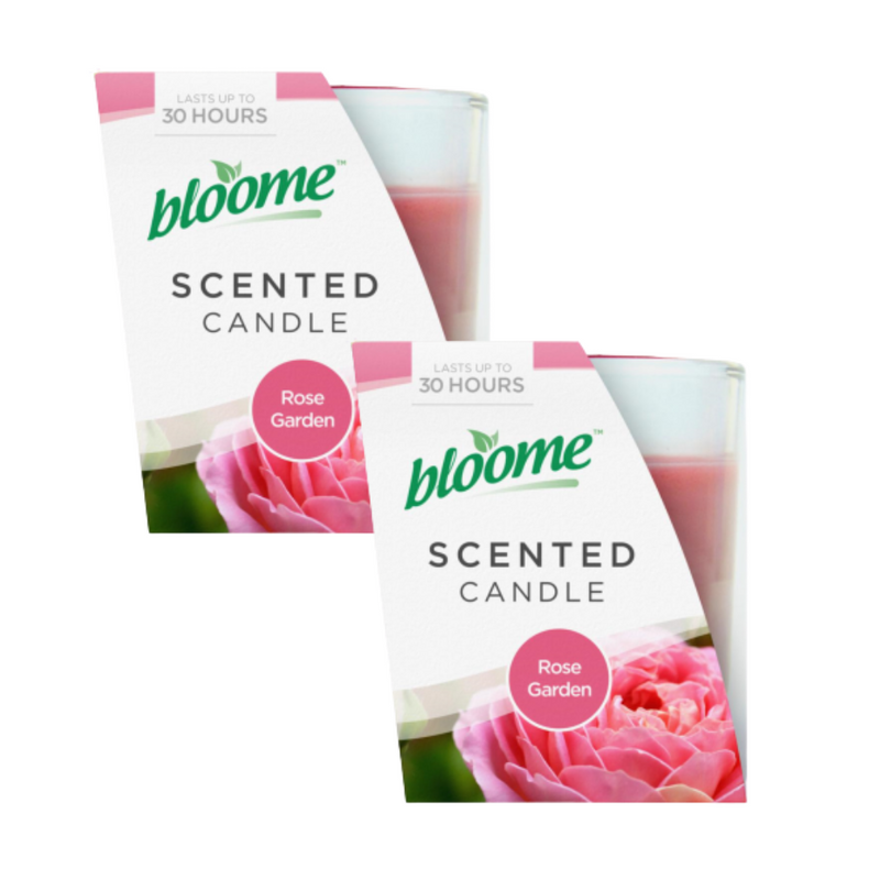 2 x Bloome Rose Garden Scented Candle