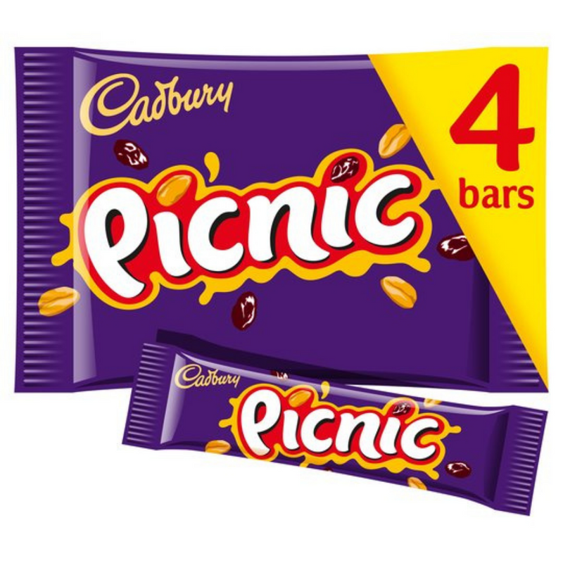 Cadbury Picnic Chocolate Bars 4 Pack