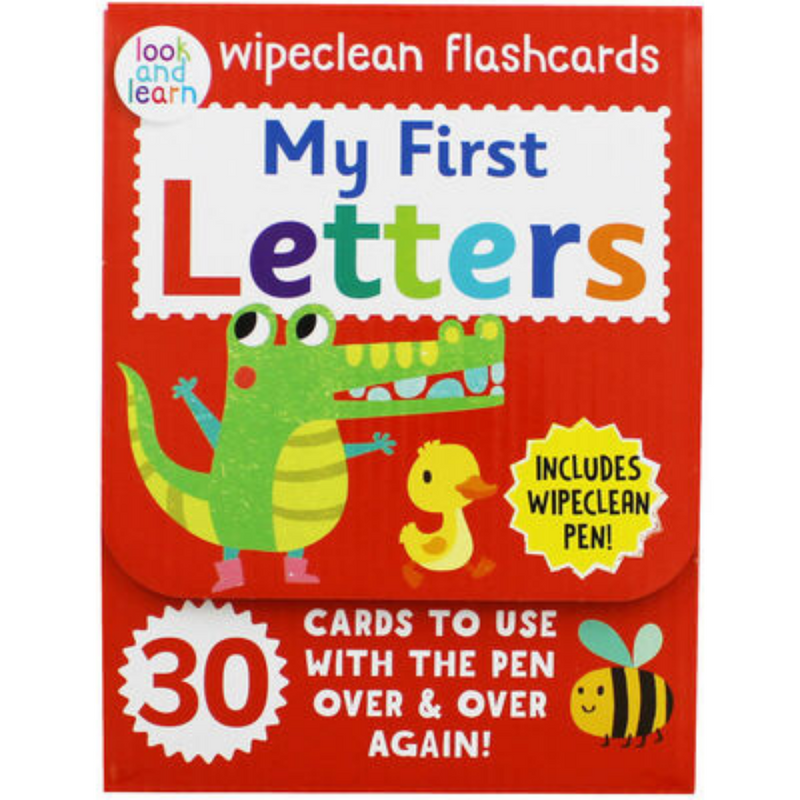 Look And Learn My First Letters Wipeclean Flashcards With Wipeclean Pen 9781912754946