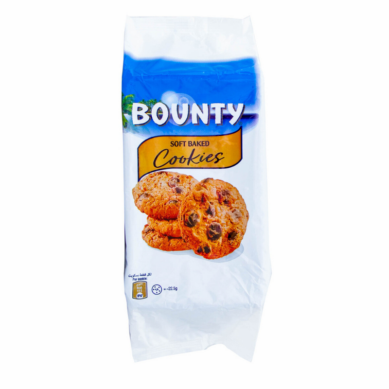 Bounty Soft Baked Cookies With Milk Chocolate Drops & Coconut 180g