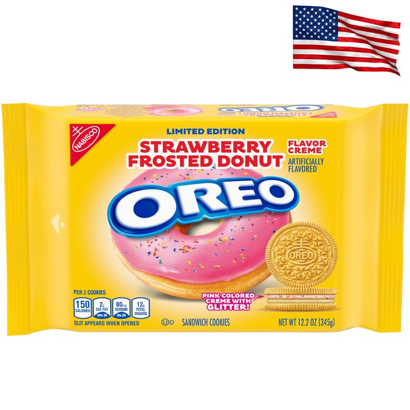 USA Limited Edition Oreo Strawberry Frosted Donut 345g