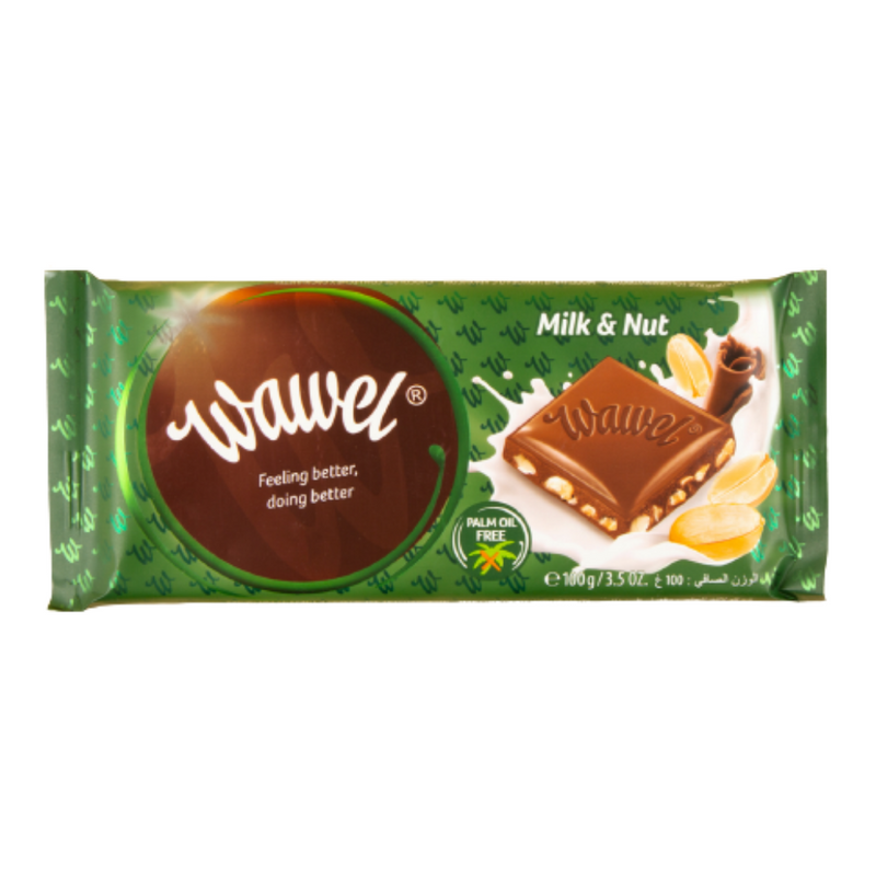 Wawel Milk & Nut Chocolate Bar 100g
