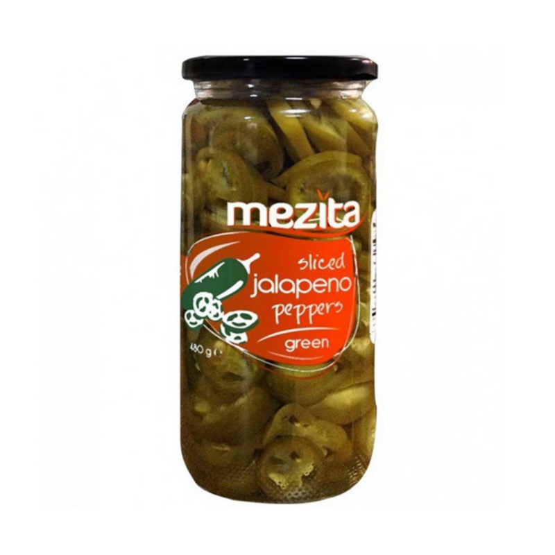 Mezita Sliced Green Jalapeno Peppers 480g 8698740270856