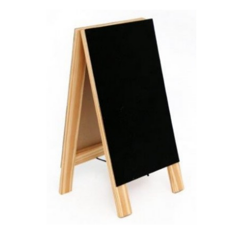 Standing Chalkboard Easel With Natural Wooden Framing Homescholling