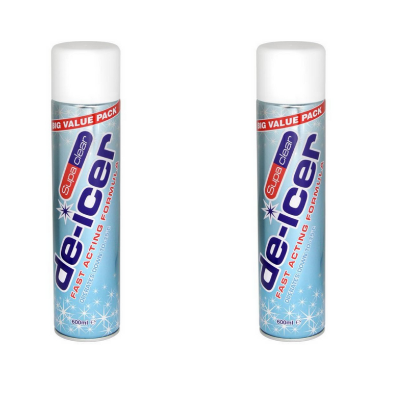 2 x Fast Acting De-Icer SupaClear 600ml