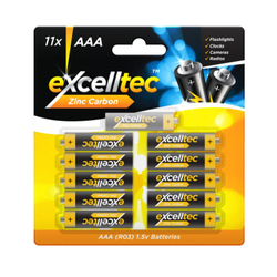 Zinc Carbon AAA Batteries 11pk
