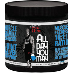 Rich Piana All Day You May BCAA and Joint Recovery Blue Raspberry Drink , 465g