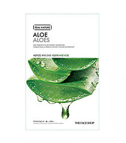 The Face Shop Real Nature Aloe Face Mask 1pc 20g| Offer 2 For £1