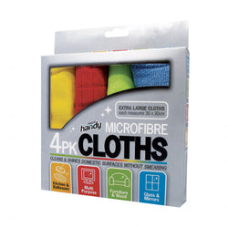 Keep it Handy Pack of 4 Microfibre Cleaning Cloths 30cm x 30cm